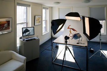 Inside the Jon Reis Photography studio.